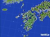 九州地方のアメダス実況(風向・風速)(2018年02月28日)
