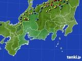 東海地方のアメダス実況(積雪深)(2018年03月01日)