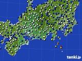 東海地方のアメダス実況(風向・風速)(2018年03月01日)