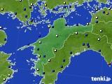 愛媛県のアメダス実況(風向・風速)(2018年03月01日)