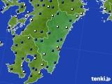宮崎県のアメダス実況(風向・風速)(2018年03月01日)