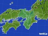 近畿地方のアメダス実況(積雪深)(2018年03月02日)