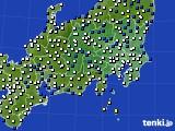 関東・甲信地方のアメダス実況(風向・風速)(2018年03月02日)