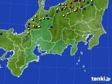 東海地方のアメダス実況(積雪深)(2018年03月03日)