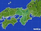 近畿地方のアメダス実況(積雪深)(2018年03月03日)