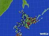 北海道地方のアメダス実況(日照時間)(2018年03月03日)