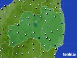 福島県のアメダス実況(風向・風速)(2018年03月03日)