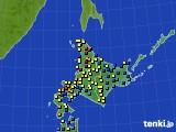 北海道地方のアメダス実況(積雪深)(2018年03月13日)