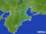 三重県のアメダス実況(降水量)(2018年03月21日)