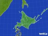 北海道地方のアメダス実況(降水量)(2018年03月22日)