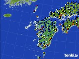 九州地方のアメダス実況(日照時間)(2018年03月22日)