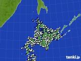 北海道地方のアメダス実況(風向・風速)(2018年03月22日)