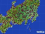 2018年04月01日の関東・甲信地方のアメダス(日照時間)
