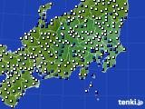関東・甲信地方のアメダス実況(風向・風速)(2018年04月01日)