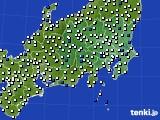 関東・甲信地方のアメダス実況(風向・風速)(2018年04月02日)