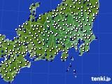 関東・甲信地方のアメダス実況(風向・風速)(2018年04月03日)