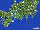 東海地方のアメダス実況(風向・風速)(2018年04月07日)