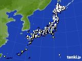 2018年04月07日のアメダス(風向・風速)
