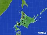 北海道地方のアメダス実況(積雪深)(2018年04月10日)
