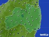 福島県のアメダス実況(風向・風速)(2018年04月10日)