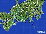 東海地方のアメダス実況(風向・風速)(2018年04月11日)