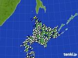 北海道地方のアメダス実況(風向・風速)(2018年04月20日)