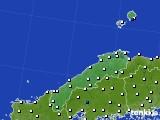 島根県のアメダス実況(風向・風速)(2018年04月20日)