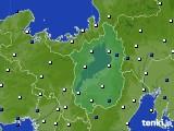 滋賀県のアメダス実況(風向・風速)(2018年04月23日)