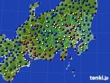 関東・甲信地方のアメダス実況(日照時間)(2018年04月25日)