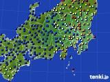 2018年04月30日の関東・甲信地方のアメダス(日照時間)