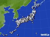 2018年04月30日のアメダス(風向・風速)
