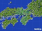 近畿地方のアメダス実況(風向・風速)(2018年05月03日)