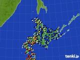 北海道地方のアメダス実況(日照時間)(2018年05月04日)