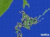 北海道地方のアメダス実況(風向・風速)(2018年05月04日)