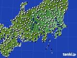 関東・甲信地方のアメダス実況(風向・風速)(2018年05月06日)