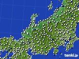 北陸地方のアメダス実況(風向・風速)(2018年05月08日)