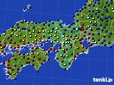 近畿地方のアメダス実況(日照時間)(2018年05月09日)