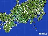 2018年05月09日の東海地方のアメダス(風向・風速)
