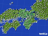 近畿地方のアメダス実況(風向・風速)(2018年05月09日)