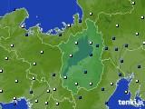 滋賀県のアメダス実況(風向・風速)(2018年05月09日)