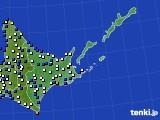 道東のアメダス実況(風向・風速)(2018年05月11日)