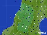 山形県のアメダス実況(風向・風速)(2018年05月11日)