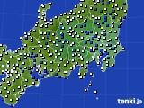 関東・甲信地方のアメダス実況(風向・風速)(2018年05月14日)