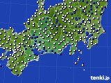 2018年05月14日の東海地方のアメダス(風向・風速)