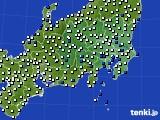 関東・甲信地方のアメダス実況(風向・風速)(2018年05月15日)