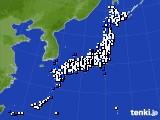 2018年05月20日のアメダス(風向・風速)