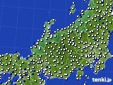 北陸地方のアメダス実況(風向・風速)(2018年05月21日)
