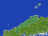 島根県のアメダス実況(風向・風速)(2018年05月21日)