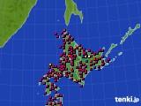 北海道地方のアメダス実況(日照時間)(2018年05月22日)