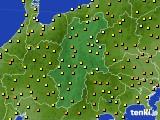 長野県のアメダス実況(気温)(2018年05月22日)